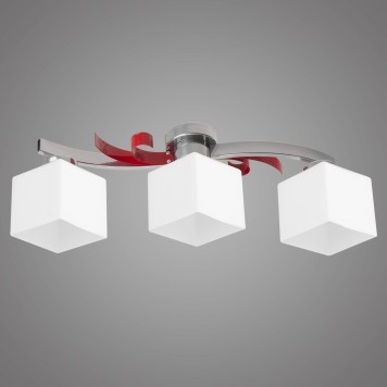 Lampa sufitowa ATRATO AT/3/P/R czerwona